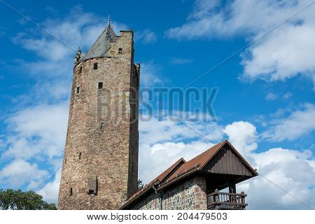 The Oldest Medieval Fortified Tower In Germany In The Small German Town Fritzlar