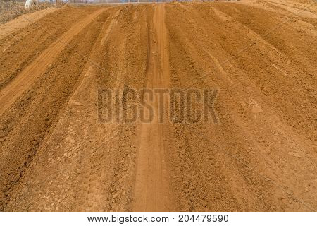 Wheel Track On The Sand