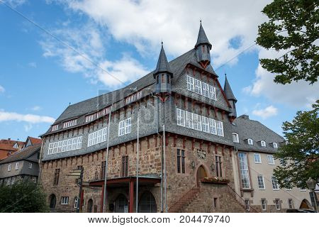 The Town Hall Of The Small German Town Fritzlar