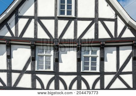 Historic Black And White Half Timbered House