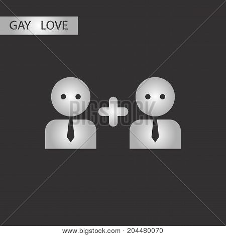 black and white style icon gay love family