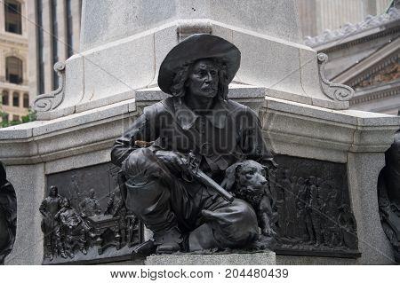 Montreal,canada: Paul De Chomedey Monument Details