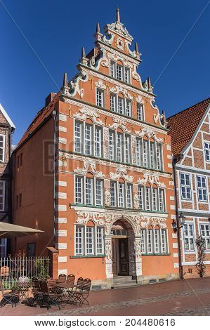 STADE, GERMANY - MARCH 27, 2017: Former mayors house in the historical center of Stade Germany