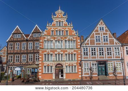 STADE, GERMANY - MARCH 27, 2017: Old mayor house in the historical harbor of Stade Germany