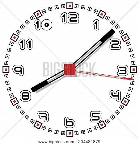 Black and White Clock Simple Fifty One Edition