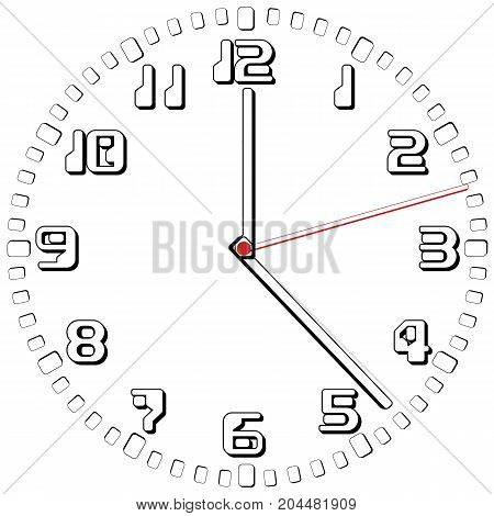 Black and White Clock Simple fifty-sixth edition