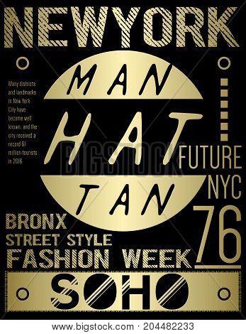 Newyork typography graphic design fashion style modern art