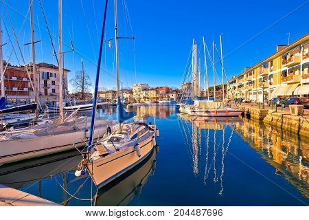 Town Of Grado Colorful Waterfront And Harbor View