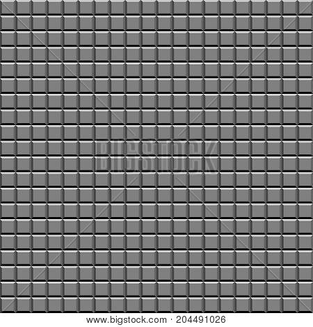 A wall of faceted pattern tiles. Illustration Abstract background.