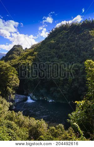 Waterfall Of Bassin La Mer, Reunion Island