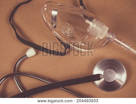 Close Up Of Oxygen Mask.