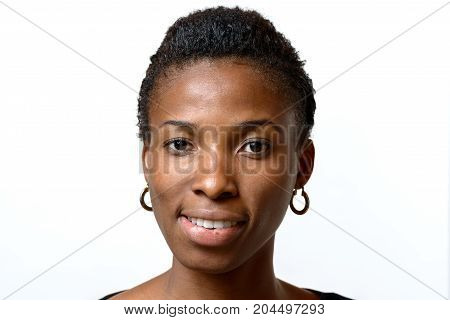 Attractive Friendly Young African American Woman