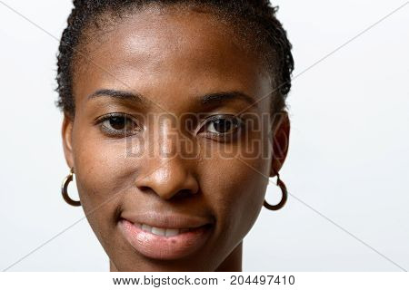Pretty African Woman With A Friendly Expression