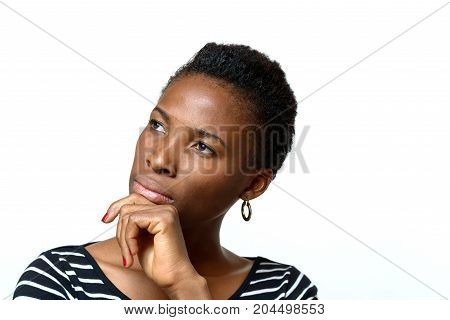 Attractive African Woman With A Pensive Expression