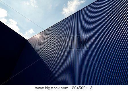Corrugated Metal Sheet Blue Color