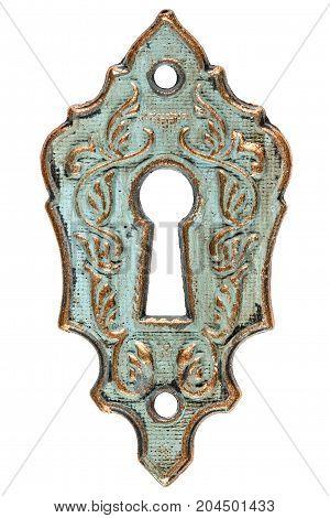 The Keyhole, Decorative Design Element, Isolated On White Background