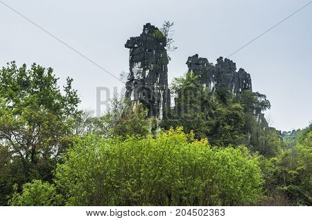 The camel hill scenery in garden, Guilin, China.