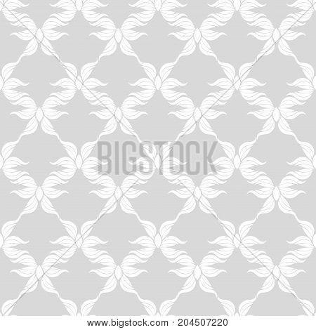 Seamless abstract vintage light gray pattern. Vector illustration