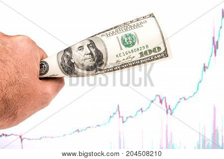 Strong Dollar With Rising Chart Pattern