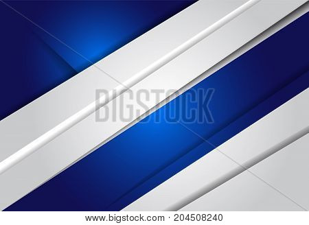 Blue gradient geometric background material design overlap layer illustration