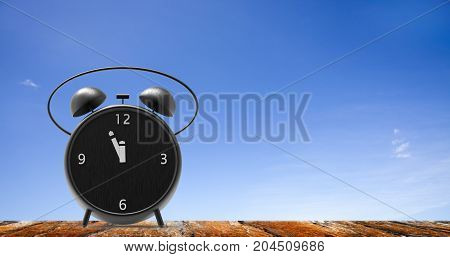 Alarm Clock With Little Minutes To Twelve O'clock