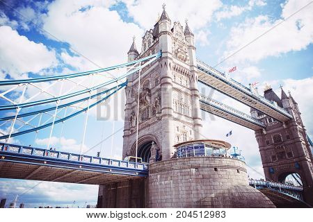 Tower Bridge In London, The Uk.