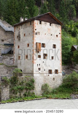Medieval Castle Altfinstermunz, In The Valley Of The Inn River, European Alps