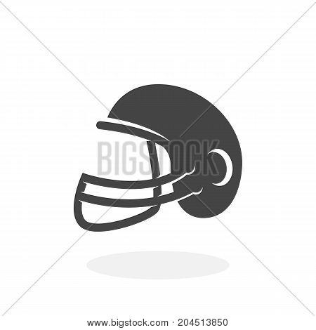 American football helmet icon isolated on white background. American football helmet vector logo. Flat design style. Modern vector pictogram for web graphics - stock vector