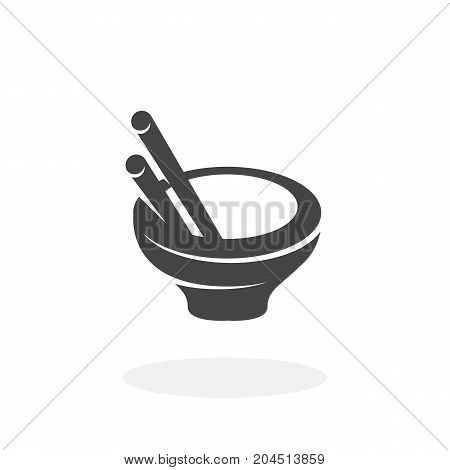 Asian food icon isolated on white background. Asian food vector logo. Flat design style. Modern vector pictogram for web graphics - stock vector