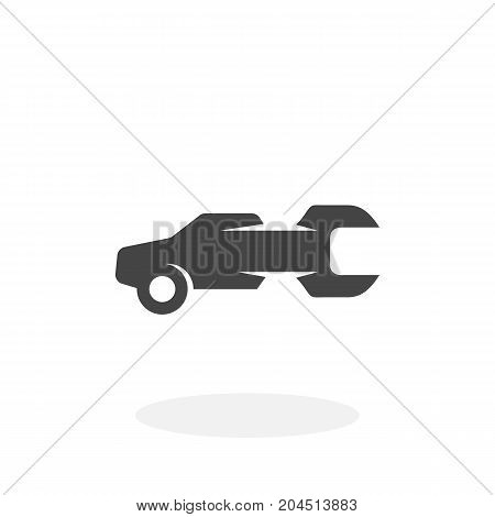 Auto service icon isolated on white background. Auto service vector logo. Flat design style. Modern vector pictogram for web graphics - stock vector