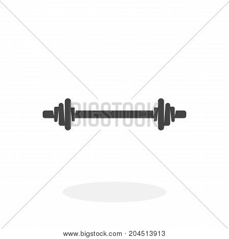 Barbell icon isolated on white background. Barbell vector logo. Flat design style. Modern vector pictogram for web graphics - stock vector
