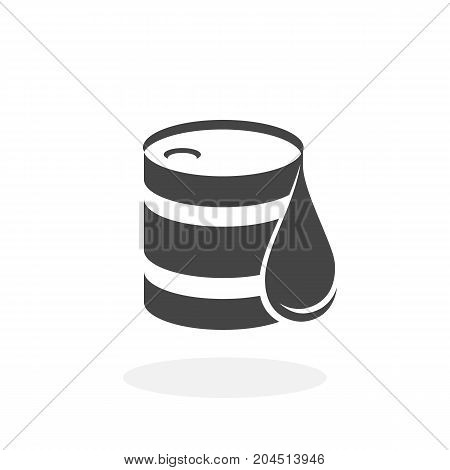 Barrel oil icon isolated on white background. Barrel oil vector logo. Flat design style. Modern vector pictogram for web graphics - stock vector