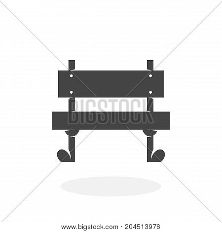Bench icon isolated on white background. Bench vector logo. Flat design style. Modern vector pictogram for web graphics - stock vector