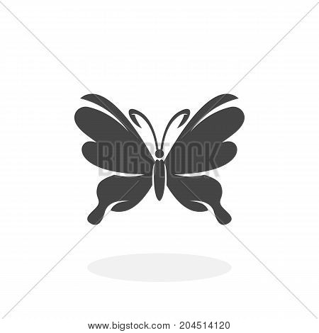 Butterfly icon isolated on white background. Butterfly vector logo. Flat design style. Modern vector pictogram for web graphics - stock vector