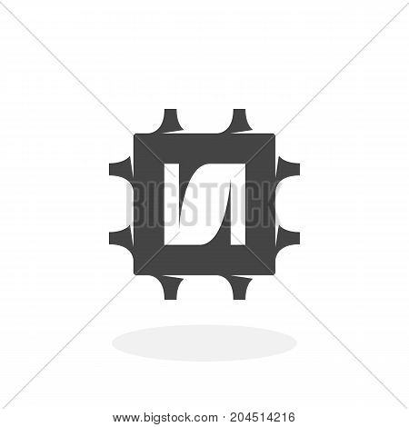 Cpu icon isolated on white background. Cpu vector logo. Flat design style. Processor vector pictogram for web graphics - stock vector
