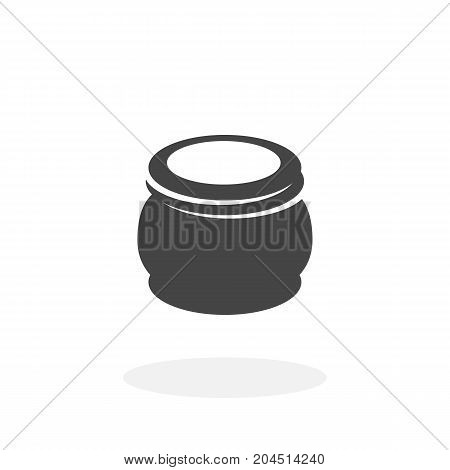 Hand cream icon isolated on white background. Hand cream vector logo. Flat design style. Modern vector pictogram for web graphics - stock vector
