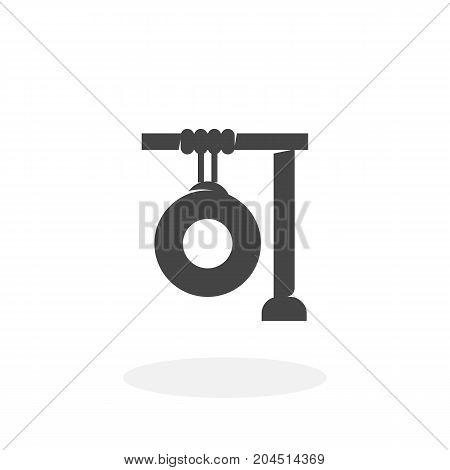 Gong icon isolated on white background. Gong vector logo. Flat design style. Modern vector pictogram for web graphics - stock vector