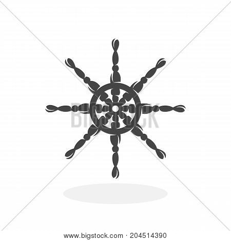 Helm icon isolated on white background. Helm vector logo. Flat design style. Wheel vector pictogram for web graphics - stock vector