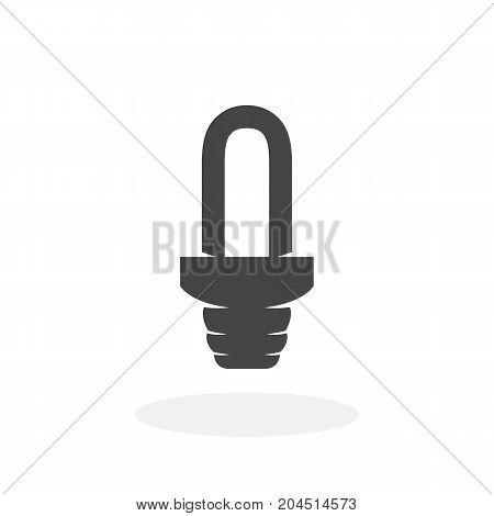 Light bulb icon isolated on white background. Light bulb vector logo. Modern vector pictogram for web graphics - stock vector