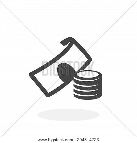 Money icon isolated on white background. Money vector logo. Flat design style. Cash vector pictogram for web graphics - stock vector