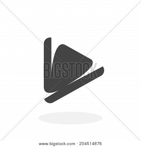 Play icon isolated on white background. Play vector logo. Flat design style. Modern vector pictogram for web graphics - stock vector