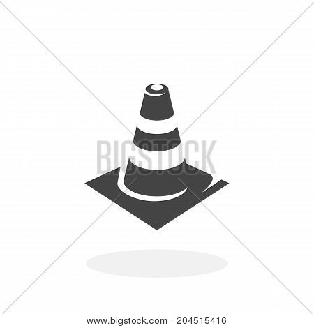 Traffic cone icon illustration isolated on white background sign symbol. Traffic cone vector logo. Modern vector pictogram for web graphics - stock vector