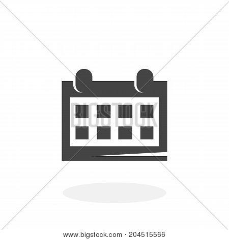 Calendar icon illustration isolated sign symbol. Calendar vector logo. Flat design style. Modern vector pictogram for mobile and web design - stock vector