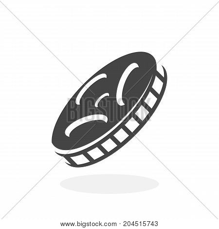 Film icon illustration isolated sign symbol. Film vector logo. Flat design style. Modern vector pictogram for mobile and web design - stock vector