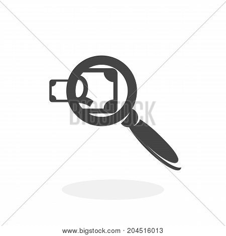 Find money icon illustration isolated sign symbol. Find money vector logo. Flat design style. Modern vector pictogram for mobile and web design - stock vector