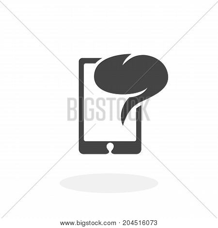 Smartphone email icon illustration isolated sign symbol. Smartphone email vector logo. Flat design style. Modern vector pictogram for mobile and web design - stock vector
