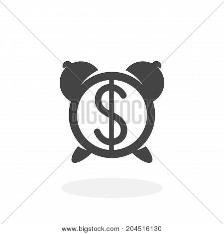 Time is money icon illustration isolated sign symbol. Time vector logo. Flat design style. Modern vector pictogram for mobile and web design - stock vector