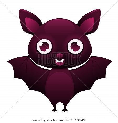 Vampire Bat cute cartoon character isolated on white background. Vector illustration