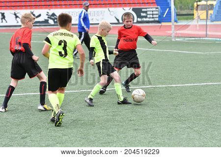 Orenburg, Russia - May 28, 2017 Year: The Boys Play Football