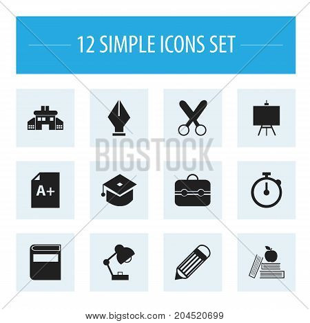 Set Of 12 Editable Knowledge Icons. Includes Symbols Such As Trunk, Ceremony, Literature And More